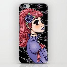 Pink Hair Gothic Lolita iPhone Skin