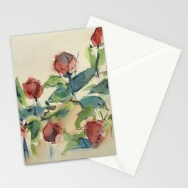 Roses 3 (watercolor) Stationery Cards