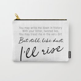 I'll rise #minimalism Carry-All Pouch