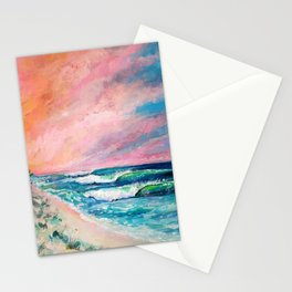 Candies surf break Stationery Cards