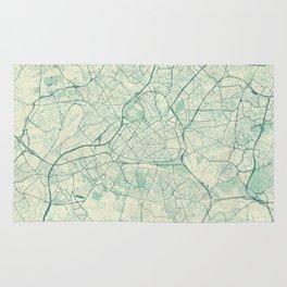 Lille Map Blue Vintage Rug