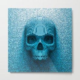 Pixel skull Metal Print
