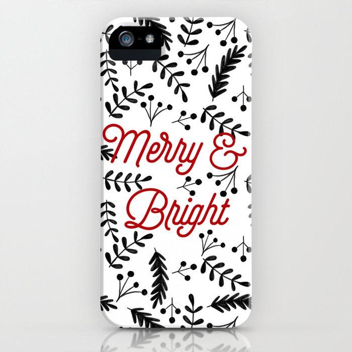 Merry & Bright iPhone Case