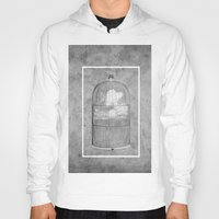 cage Hoodies featuring Cloud Cage by Mehdi Elkorchi