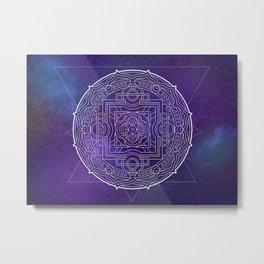 Space Mandala Metal Print