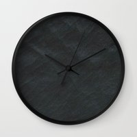 leather Wall Clocks featuring Leather black by Adrian Fvtvrvm