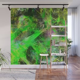 Neon Galaxy - Abstract Wall Mural