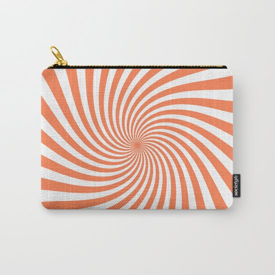 Swirl (Coral/White) Carry-All Pouch