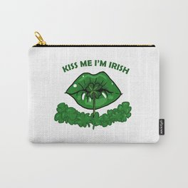St Patricks Day For Women Green Lips Shamrock Gift Carry-All Pouch