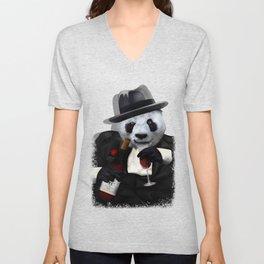 PANDA with Tuxedo Unisex V-Neck
