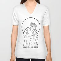 mineral V-neck T-shirts featuring Mineral Woman by Ryan Brown