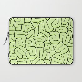Zombie Brains in Lime Large Laptop Sleeve