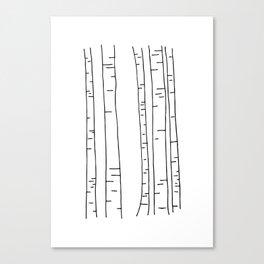 Minimal birches Canvas Print