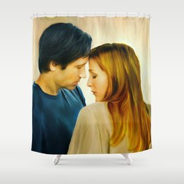 I Want to Believe painting Shower Curtain