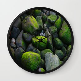 Mossy Rocks DPG151015a Wall Clock