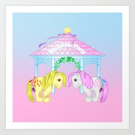 g1 my little pony snuzzle and butterscotch Art Print