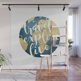Travel, Explore, Live Wall Mural