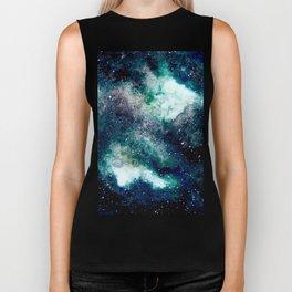 Dreamy Cloud Galaxy, Blue Biker Tank