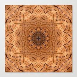 Wooden Flower Ring kaleidoscope Canvas Print