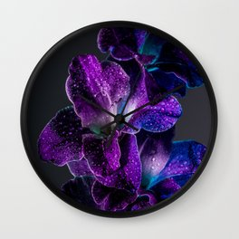 Blue and Purple  Wall Clock