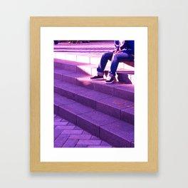 Portland in Purple Framed Art Print