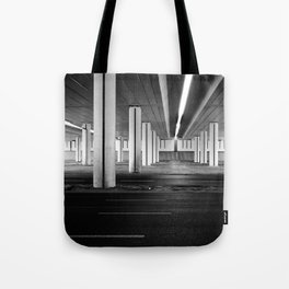 driving you crazy, urban view, city drive in warsaw, poland Tote Bag