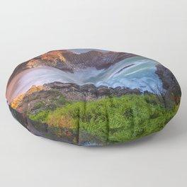 Image USA McWay Falls, Julia Pfeiffer Burns State Park Ocean Cliff Nature park Cove Evening Crag Rock Parks Floor Pillow