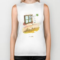 apple Biker Tanks featuring Apple! by Pepan