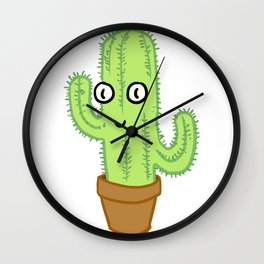 The cute Cactus Wall Clock