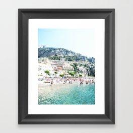 Positano beach II Framed Art Print