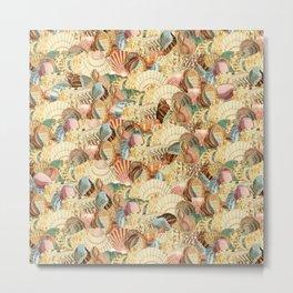 Sea shells pattern 2 Metal Print