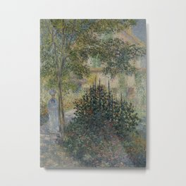 Camille Monet in the Garden at Argenteuil Metal Print