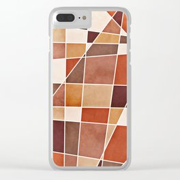 Cubist Autumn Clear iPhone Case