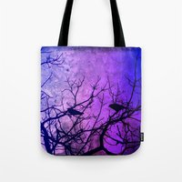 dramatical murder Tote Bags featuring Attempted Murder by minx267