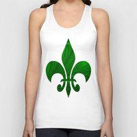 renaissance Tank Tops featuring Renaissance Green by Charma Rose