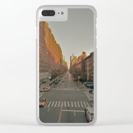 The Yellow Muted City (Color) Clear iPhone Case