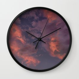 Last Days Of Summer. Clouds at Sunset Wall Clock