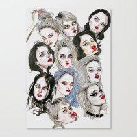 sky ferreira Canvas Prints featuring Sky Ferreira Collage by Lucas David