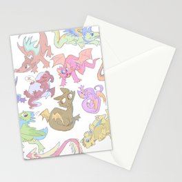 Red Dragon Horde Stationery Cards