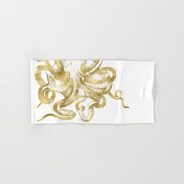 Gold Octopus Hand & Bath Towel