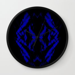 a black and blue snake Wall Clock
