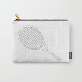 Tennis Racket Outline Carry-All Pouch