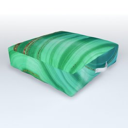 Ocean Blue And Green Mermaid Glamour Marble Outdoor Floor Cushion