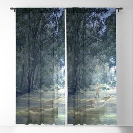 Ghostly Excursion on the Bayou Blackout Curtain