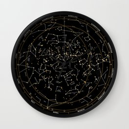 Star Chart of the Northern Hemisphere Wall Clock
