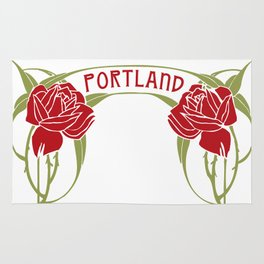 Art Nouveau Roses Portland by Seasons K Designs Rug