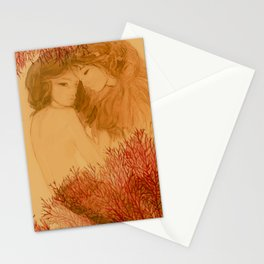 Coral & Mermaids Stationery Cards