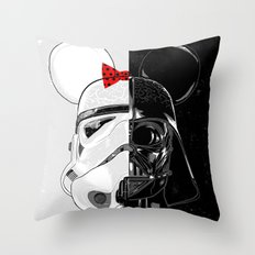 Mini Trooper vs. Vader Mouse Throw Pillow