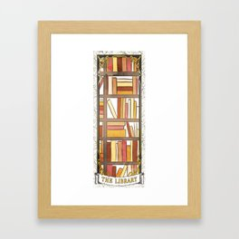 THE LIBRARY Framed Art Print