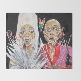 Ru Paul Throw Blanket